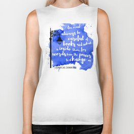 WORDS HAVE THE POWER TO CHANGE US | CASSANDRA CLARE Biker Tank