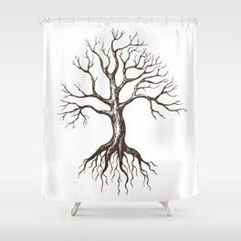 Bare tree Shower Curtain