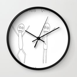 To The Window, To The Wall Wall Clock