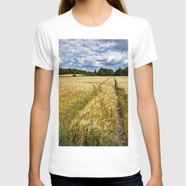 Golden wheat field poetry T-shirt