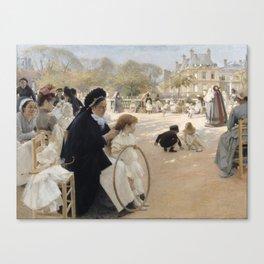 Albert Edelfelt and Queen Bianca Canvas Print