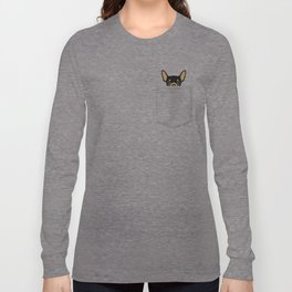 Pocket Chihuahua - Black Long Sleeve T-shirt