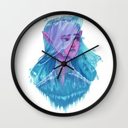 Water Nymph Bust Wall Clock