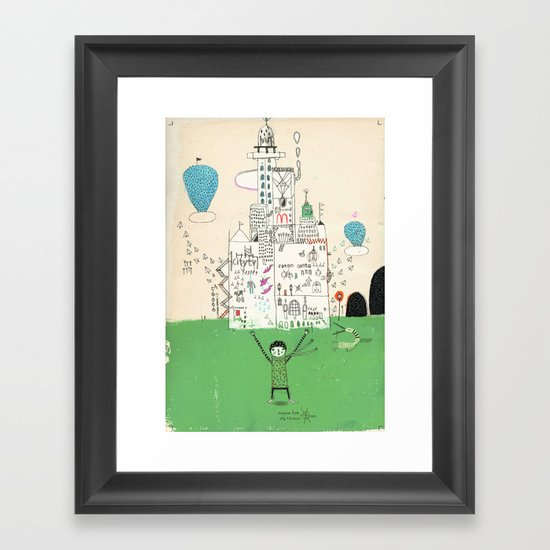 I love life. Framed Art Print