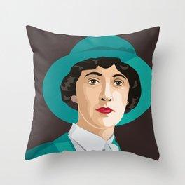Agatha Christie Throw Pillow