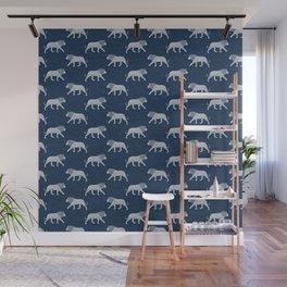 lions - navy blue Wall Mural