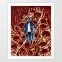 sandra dieckmann Art Prints featuring Sandra by Robert Elrod