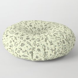 Doodles Pattern Floor Pillow