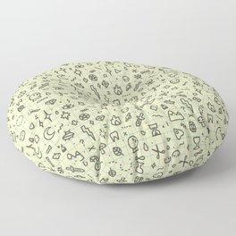 Doodles Pattern Floor Pillow