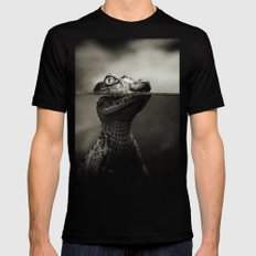 Baby crocodile LARGE Black Mens Fitted Tee