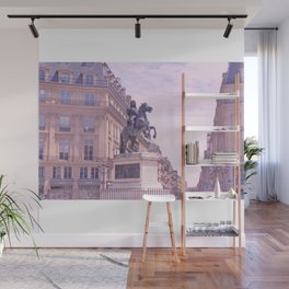 Louis XIV at the Place des Victoires in Pink Tones Wall Mural