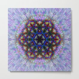 Flower of Life from chalk Metal Print