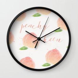 Peachy Keen Wall Clock