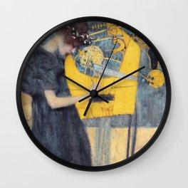 "Gustav Klimt ""Music (Die Musik)"" Wall Clock"