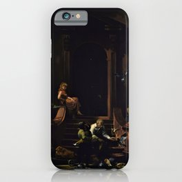 American Masterpiece 'Brownstone Front Stoop - New York' by Artist Unknown iPhone Case