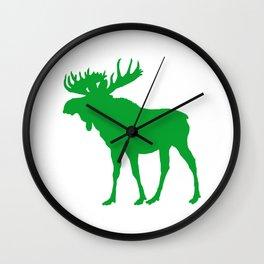 Moose: Green Wall Clock