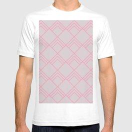 Diamond Art Deco; - Pink T-shirt