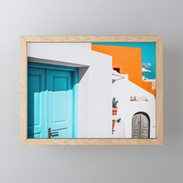 Apartment 539 | Santorini, Greece Framed Mini Art Print