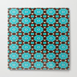 Turquoise roses Metal Print