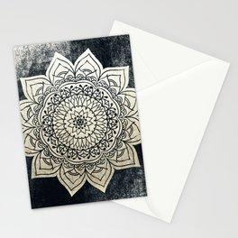 DEEP GOLD MANDALA Stationery Cards