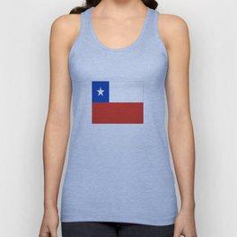 flag of Chile- -Spanish,Chile,chilean,chileno,chilena,Santiago,Valparaiso,Andes,Neruda. Unisex Tank Top
