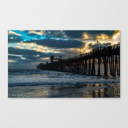 South Side Oceanside Pier ~10-2015 Canvas Print