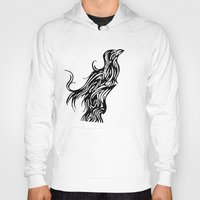 nordic Hoodies featuring Nordic Raven by Jeremy Buckley illustration