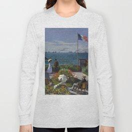 Monet, Terrasse à Sainte-Adresse, 1866 Long Sleeve T-shirt