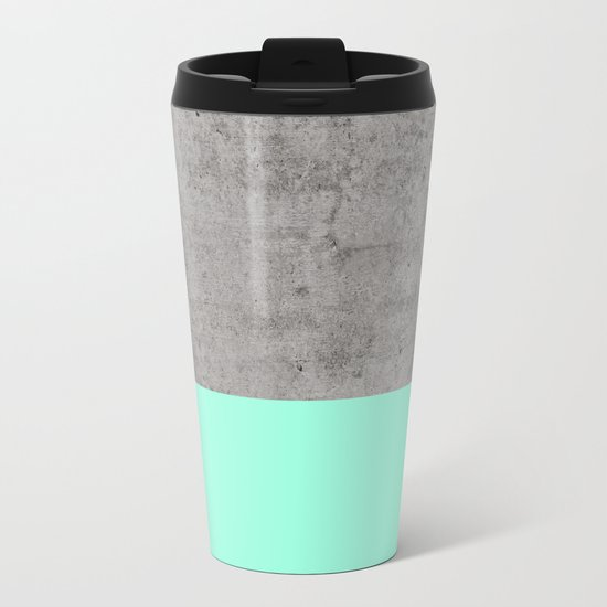 Sea on Concrete Metal Travel Mug