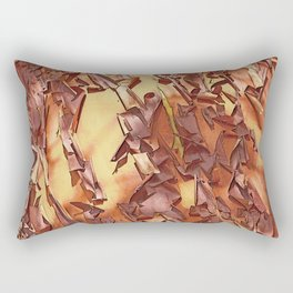 A STUDY OF MADRONA BARK Rectangular Pillow