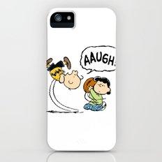 Charlie Brown Foot Ball Slim Case iPhone (5, 5s)
