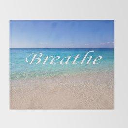 Breathe Cayman Relaxing Beach Waves Throw Blanket