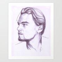 leonardo dicaprio Art Prints featuring Leonardo DiCaprio by Art by Kylie