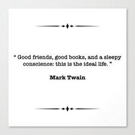 Mark Twain Quote Canvas Print