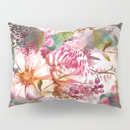 Animal flowers abstract Pillow Sham