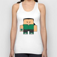 power rangers Tank Tops featuring Mighty Morphin Power Rangers - Tommy (The Original Green Ranger) by Choo Koon Designs