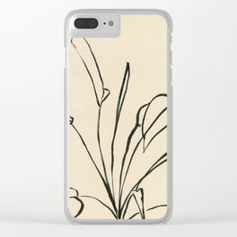 Line drawing leaves Clear iPhone Case