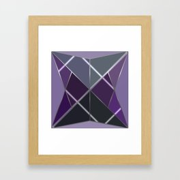 Mosaic tiled glass with a laser show Framed Art Print