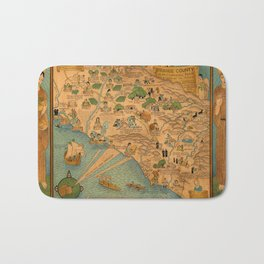 Map of Orange County 1929 Bath Mat