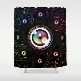 Can You See With All The Colors Of The Wheel Shower Curtain