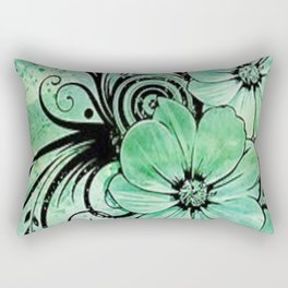 paint the fleur Rectangular Pillow