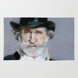 Giuseppe Verdi (1813 – 1901) by Giovanni Boldini (1842 - 1931)(2) Rug