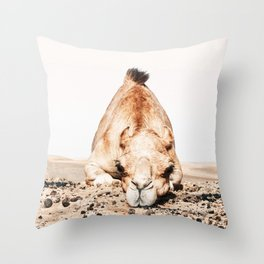 Camille the Camel Throw Pillow