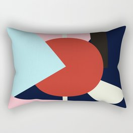 Circle Series - Red Circle No. 4 Rectangular Pillow