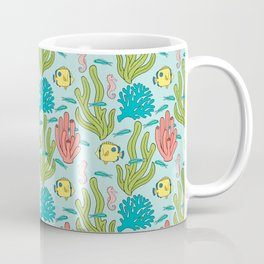 Tropical Fish and Coral Reef in Pastel Coffee Mug