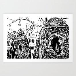 Stickwork Art Print