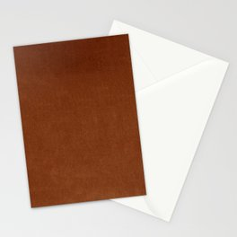 Rust Orange Velvet Textu Stationery Cards