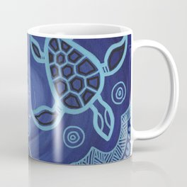 Aboriginal Art Authentic - Sea Turtles Coffee Mug