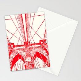 New York, Brooklyn Bridge Stationery Cards