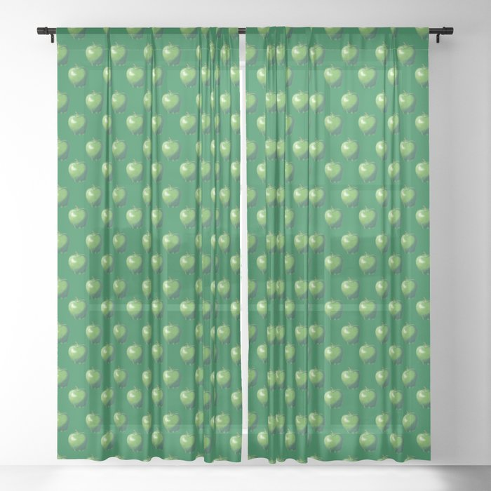 Green Apple_B Sheer Curtain